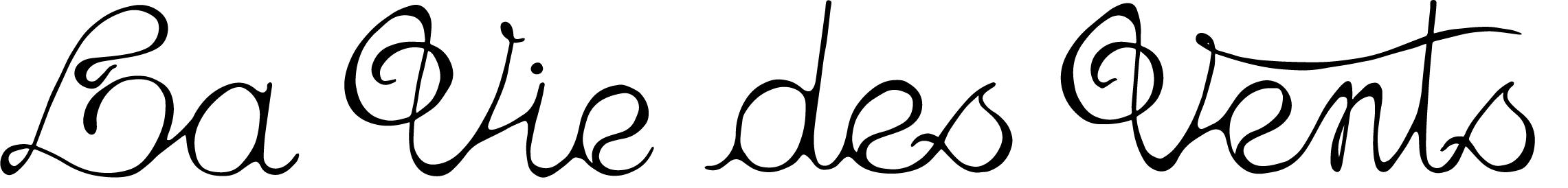 Nom calligraphié atelier La vie des vents